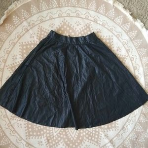 Faux leather Black A-line skirt